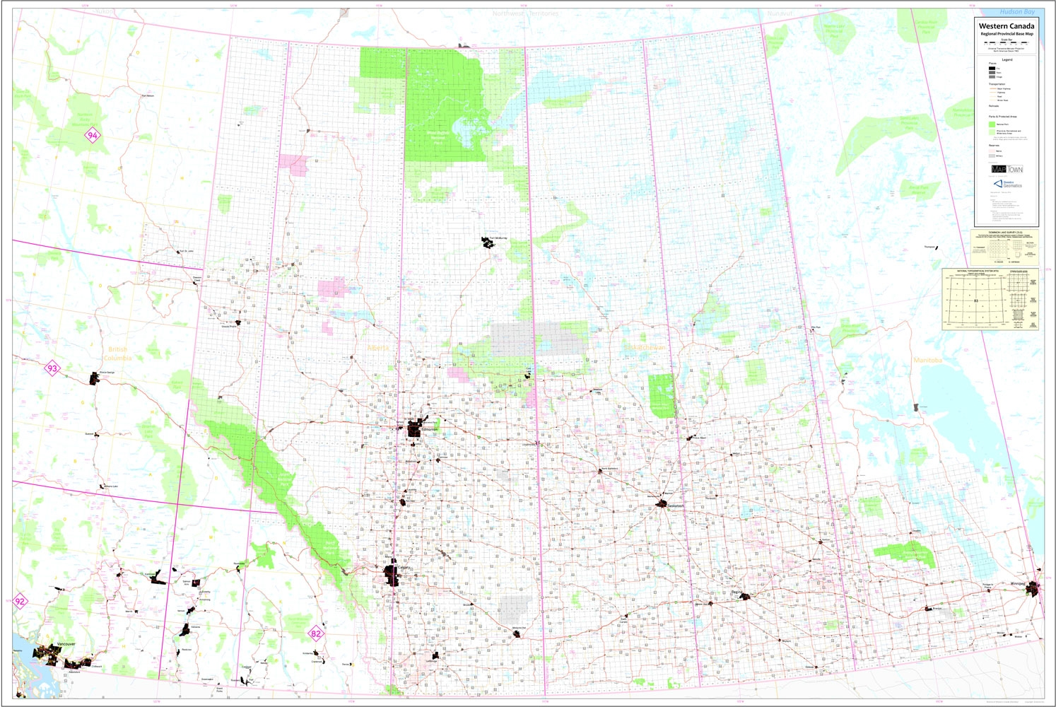 Western Canada Base Map Extra Large This Is An Oversized Base Map