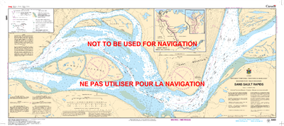 6451 - Sans Sault Rapids - Canadian Hydrographic Service (CHS)'s exceptional nautical charts and navigational products help ensure the safe navigation of Canada's waterways. These charts are the 'road maps' that guide mariners safely from port to port. Wi