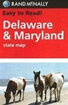 Delaware and Maryland State Map