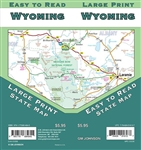 Wyoming State Map. Casper, Cheyenne, Cody, Evanston, Gillete, Grand Teton National Park, Green River, Jackson, Laramie, Rawlins, Riverton, Rock Springs, Sheridan, Yellowstone National Park.