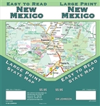 New Mexico - Large print, easy to read, state map, waterproof,  select campgrounds and recreation areas, inset of Albuquerque,Downtown Albuquerque, Santa Fe, Downtown Santa Fe, Roswell, Carlsbad, Las Cruces, Farmington