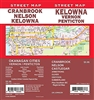 Kelowna, Vernon, Penticton Street Map includes Cranbrook, Nelson, Castlegar, Armstrong, Oliver, Osoyoos, Summerland, plus southern BC Regional Map