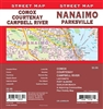 Nanaimo, Parksville Street Map Includes Campbell River, Comox, Courtenay, Dolphin Beach, Gabriola Island, Ladysmith, Lantzville, Nanaimo, Nanoose Bay, Parksville, Port Alberni, Qualicum Beach, Plus Vicinity Map. It shows transportation, boundaries, servic