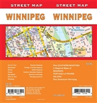 Winnipeg Road Map Includes Southern Manitoba, regional maps of Brandon, Portage la Prairie, Selkirk, and downtown Winnipeg. It shows rails, schools, boundaries, public services, campgrounds, ski areas, culture centres.