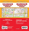 Markham, Richmond Hill Street Map Includes Markham, King, Richmond Hill, Vaughan, Whitchurch-Stouffville. It shows transportation, boundaries, services, culture centres, and road designations.