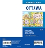 Otawa Street Map Includes Kanata, Orleans, adjoining communities and Ottawa downtown map. It shows transportation, boundaries, services, culture centres, and road designations.