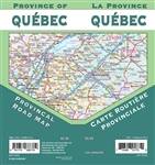 Quebec Canada Travel & Road Map. Includes Chicoutimi-Jonquiere, Gatineau, Eastern Quebec, Iles-De-La-Madeleine, Lower North Shore, Montreal, Montreal et Environs, Quebec, Rimouski, Sherbrooke, Trois-Rivieres, Ville De Quebec and Western Quebec. The map in