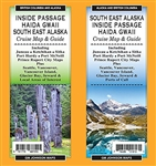 SE Alaska Inside Passage Haida Gwaii cruise map and guide. This double-sided waterproof map of southeast Alaska Inside Passage Haida Gwaii cruise map and guide takes you along the West Coast of the USA and Canada. Includes lotsof inset maps. Shows places