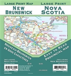 Nova Scotia Road Map Includes New Brunswick, Nova Scotia, Vicinity maps of New Brunswick, Bathurst, Campbellton, Edmundston, Fredericton, Moncton, Saint John, Vicinity maps of Nova Scotia, Amherst, Halifax, New Glasgow-Pictou-Stellarton, Syndey-Glace Bay,