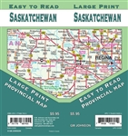 Saskatchewan Road Map Includes Saskatchewan North and South,  Vicinity maps of Regina, Saskatoon, Estevan, Lloydminster, Moose Jaw, North Battleford, Prince Albert, Swift Current, Yorkton, Downtown Regina, Downtown Saskatoon. The map has a distance chart,