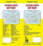 Detailed street map including Big Pine, Islamorada, Key Largo, Layton, Marathon, and adjoining communities, plus a  downtown key west map and vicinity map.