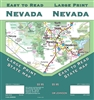 Large print road map showing all level of road detail, distances, airports, various parks and forests, as well as picnic/rest areas and campgrounds.  Seven insets on reverse of major cities.
