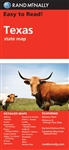 Texas State road map by Rand McNally. Includes detailed maps of Abilene, Amarillo, Austin, Beaumont, Big Bend National Park, Bryan and College Station, Corpus Christi, Dallas and Fort Worth and vicinity, El Paso, Galveston, Houston and vicinity, Laredo