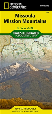 724 Missoula Mission Mountains National Geographic Trails Illustrated