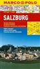 Salzburg city map. The pocket size Marco Polo city map of Salzburg 1:15000 scale is printed on water proof paper. Covers practical touristic information, public transportation and index of street names.
