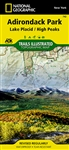 742 Adirondack Park Lake Placid High Peaks National Geographic Trails Illustrated