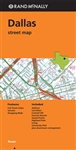 Dallas Texas Street Map. Communities include Addison, Carrollton, Cockrell Hill, Farmers Branch, Highland Park, Irving, University Park plus downtown enlargement. Shows all Interstate, US state, and county highways, along with clearly indicated parks, poi