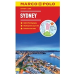 Sydney Australia City Pocket Map. This map is perfect for exploring, shopping and much more. The laminated, pocket format is easy to use, complete with public transport maps. The detailed scale shows even the smallest streets and it includes an extensive