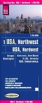 NW USA road & travel map. Reise Know-How maps are double-sided multi-language, rip proof, waterproof maps with very modern cartographic style. Each map is very clear and detailed with an index of place names and often include inset maps.