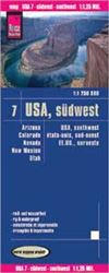 SW USA road & travel map. Reise Know-How maps are double-sided multi-language, rip proof, waterproof maps with very modern cartographic style. Each map is very clear and detailed with an index of place names and often include inset maps.