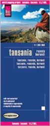 Tanzania, Africa road & travel map. Reise Know-How maps are double-sided multi-language, rip proof, waterproof maps with very modern cartographic style. Each map is very clear and detailed with an index of place names and often include inset maps.