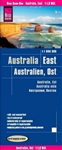 Eastern Australia road and travel map. Reise Know-How maps are double-sided multi-language, rip proof, waterproof maps with very modern cartographic style. Each map is very clear and detailed with an index of place names and often include inset maps.