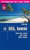 Hawaii road & travel map. Reise Know-How maps are double-sided multi-language, rip proof, waterproof maps with very modern cartographic style. Each map is very clear and detailed with an index of place names and often include inset maps.