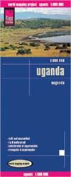 Uganda, Africa road & travel map. Reise Know-How maps are double-sided multi-language, rip proof, waterproof maps with very modern cartographic style. Each map is very clear and detailed with an index of place names and often include inset maps.