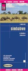 Zimbabwe road & travel map. Reise Know-How maps are double-sided multi-language, rip proof, waterproof maps with very modern cartographic style. Each map is very clear and detailed with an index of place names and often include inset maps.