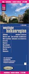 Western Balkans travel map. Reise Know-How maps are double-sided multi-language, rip proof, waterproof maps with very modern cartographic style. Each map is very clear and detailed with an index of place names and often include inset maps.