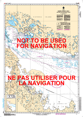 7782 - Queen Maud Gulf Western Portion Nautical Chart. Canadian Hydrographic Service (CHS)'s exceptional nautical charts and navigational products help ensure the safe navigation of Canada's waterways. These charts are the 'road maps' that guide mariners