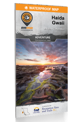 Haida Gwaii - Queen Charlotte Islands BC map. This waterproof map boasts a level of detail unprecedented in recreation maps of BC. This foldable, waterproof, tear-resistant map is designed for adventure. Covering Graham Island and surrounding islands on o
