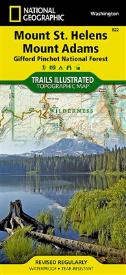 822 Mount St Helens Mount Adams Gifford Pinchot National Forest National Geographic Trails Illustrated