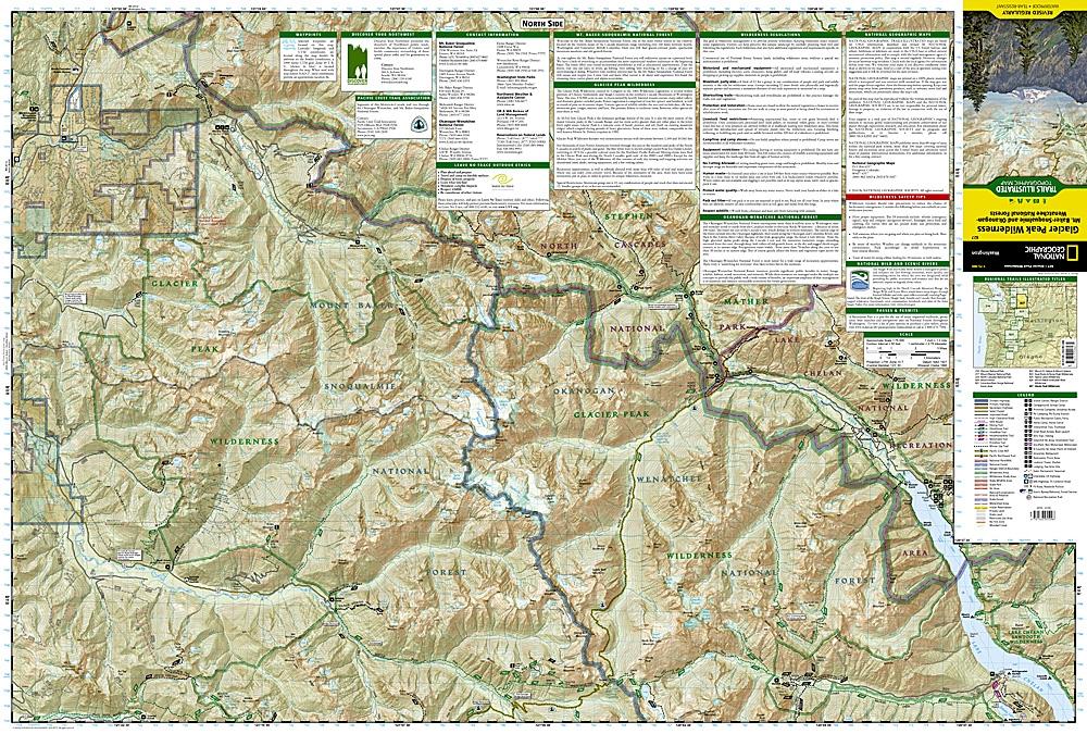 827 Glacier Peak Wilderness Mt Baker Snoqualmie and Okanogan ...