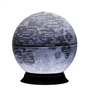 NASA Moon Illuminated - 12 inch Desk Globe. features over 900 place names including: landing spots of all Apollo missions, significant unmanned space missions and over 750 moon topographic locations which include impact craters, mountain ranges, highlands