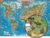 Illustrated Map of the World for kids. Children can explore all the adventures of the modern world from their bedrooms with this brand new, beautifully illustrated wall map. It features over 660 irresistible and colorful cartoon icons, cross-referenced wi