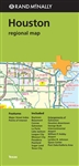 Houston Texas Regional map. Includes Baytown, Beaumont, Conroe, Galveston, La Porte, Lake Jackson, League City, Missouri City, Pasadena, Pearland, Sugar Land and Texas City. Rand McNallys folded map for Houston is a must-have for anyone traveling in and