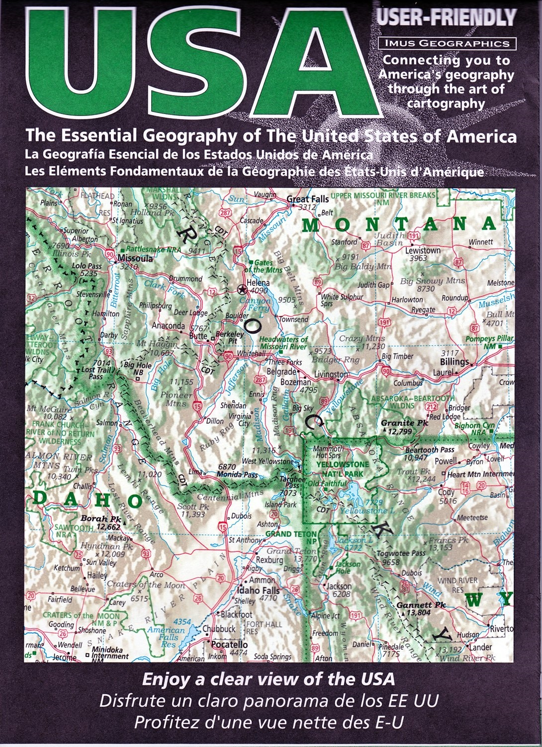 The Essential Geography of the USA road and travel map