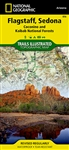 Flagstaff, Sedona, Coconino & Kaibab National Forests Trail Map. Flagstaff and Sedona map includes Coconino National Forest, Kendrick Mountain Wilderness, Kachina Peaks Wilderness, Strawberry Crater Wilderness, San Francisco Peaks, Cinder Hills OHV Area,