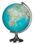 Bartlett - 12 inch Illuminated Desk Globe. The Bartlett features updated cartography that makes this student globe perfect for back-to-school. Bring the vastness of the world back to life for explorers of all ages with this illuminated desk globe. Perfect