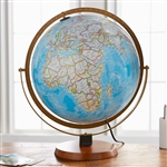National Geographic Nicollet 16 Inch Globe Replogle. With the same blue ocean coloring of our most popular wall maps, it's suitable for home, office and classroom alike. More than 4,000 place names are printed on paper gores, adhered to a plastic globe.