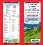 Lower Columbia River - Travel and Recreation Map covers Mount St. Helens, Mount Hood, Northern Oregon Coast, Long Beach Peninsula, Yakima Valley and Tri-Cities Walla Wall ValleyLower Columbia River - Travel and Recreation Map covers Mount St. Helens, Moun