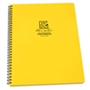 "Rainproof Spiral Yellow Notebook 8.5 x 11. If you're needing a large format notebook, look no further. The Maxi-Spiral Notebooks have strong Polydura covers, side spiral wire-o binding, and 84, 8 1/2"" x 11"" pages (42 sheets). Type 373MX."