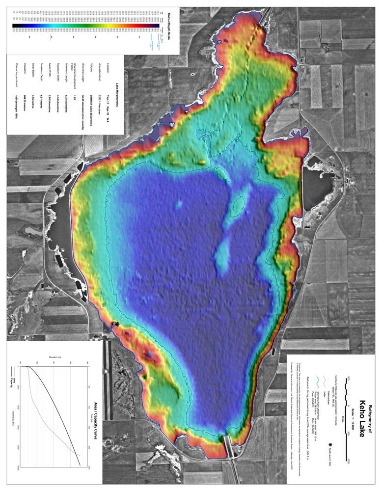Keho Lake Bathymetric Chart