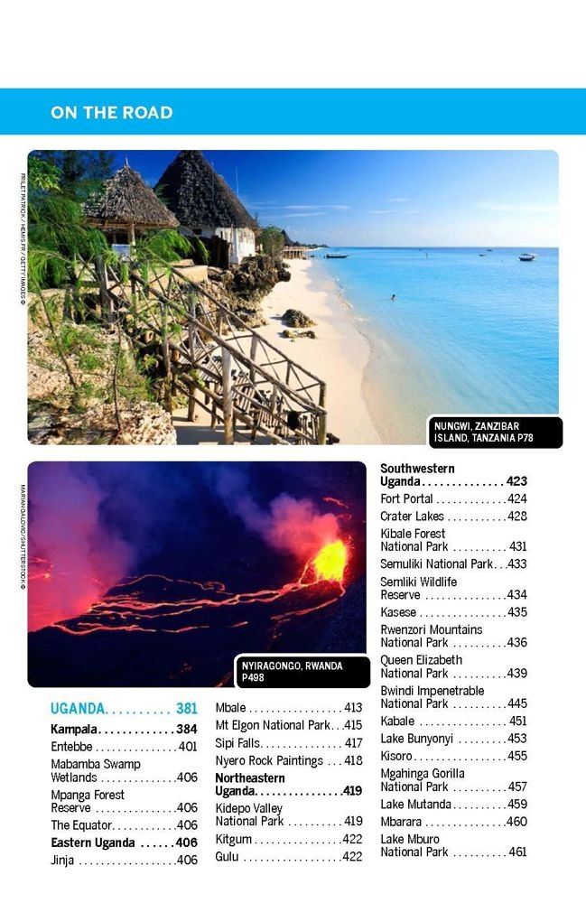 East Africa Lonely Planet Travel Guide Coverage Includes Planning