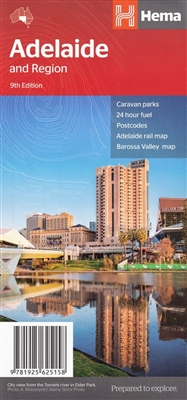 Adelaide and Region - City & Suburbs Roads Map clearly highlights all freeways and major and minor roads. A complete overview of the city is provided by a fully-indexed suburban road map which includes an inset of the CBD. A regional map complements the s