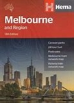 Melbourne & Region Travel & Road Map. Visit Australia's cultural hub with this map of Melbourne that is ideal for the walking tourist. Easy to use, includes a city center map, a suburban map, points of interest, accommodations and a suburbs index. It also