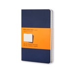 Set of 3 Cahier Journal Blue Large
