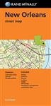 New Orleans Street Map folded by Rand McNally. Communities include Gretna, Harahan, Kenner, La Piace, Slidell and Westwego. Includes parks, points of interest, airports, county boundaries, schools, shopping malls, downtown & vicinity maps.