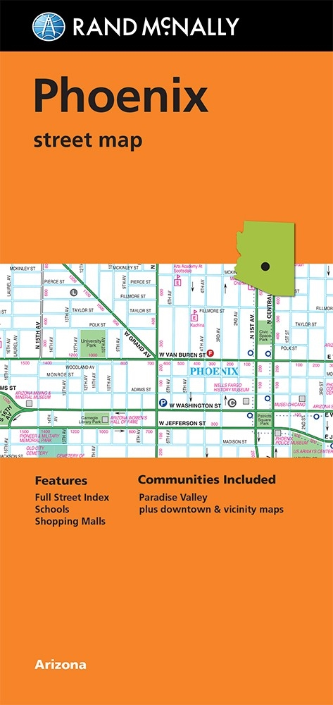 Phoenix Street Map By Rand Mcnally Includes Paradise Valley